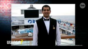 Csaba jako pracownik na promie Princess Cruises