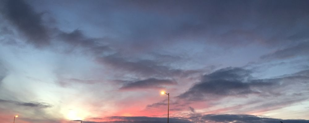 Zachód słońca nad Arklow