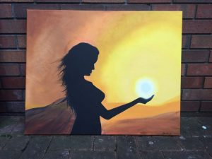 Obraz namalowany przez Martę