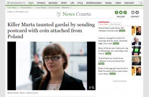 Artykuł na stronie independent.ie